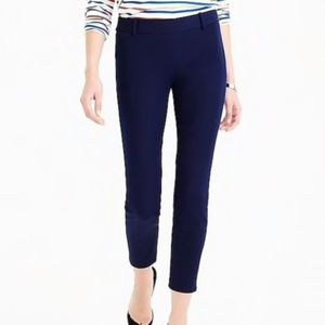 J. Crew Minnie Cropped Ankle Pants in navy